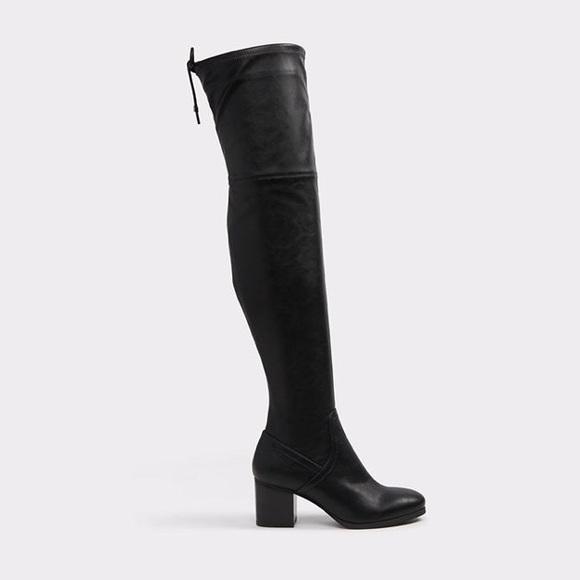 "7221df2c849 Aldo ""Abiwia"" Black Over-The-Knee boot"